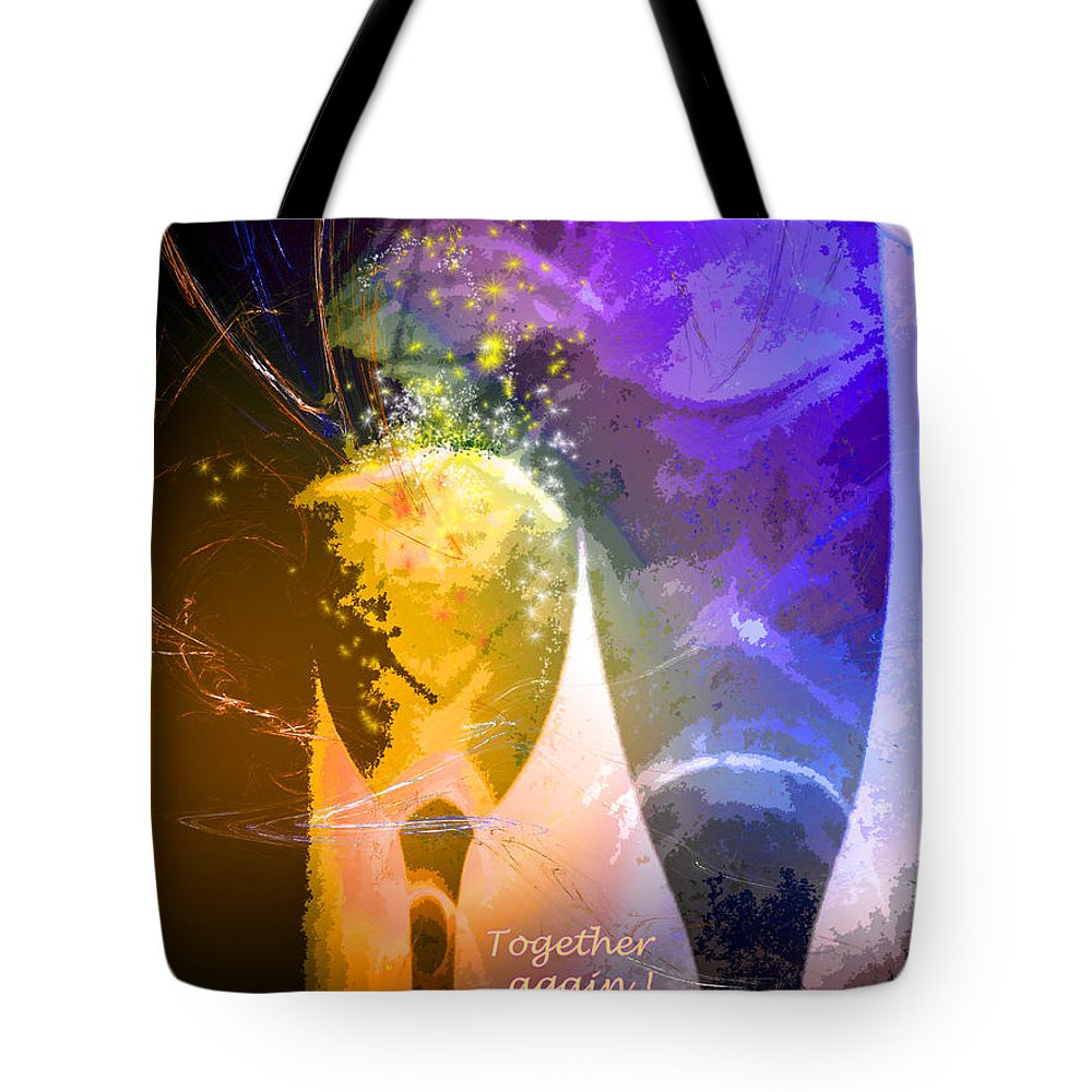 Fantasy Tote Bag featuring the photograph Together Again by Miki De Goodaboom