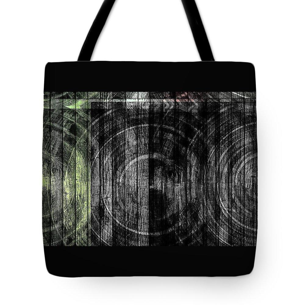 Grain Tote Bag featuring the digital art Token Grain Dark by Rabecca Primeau