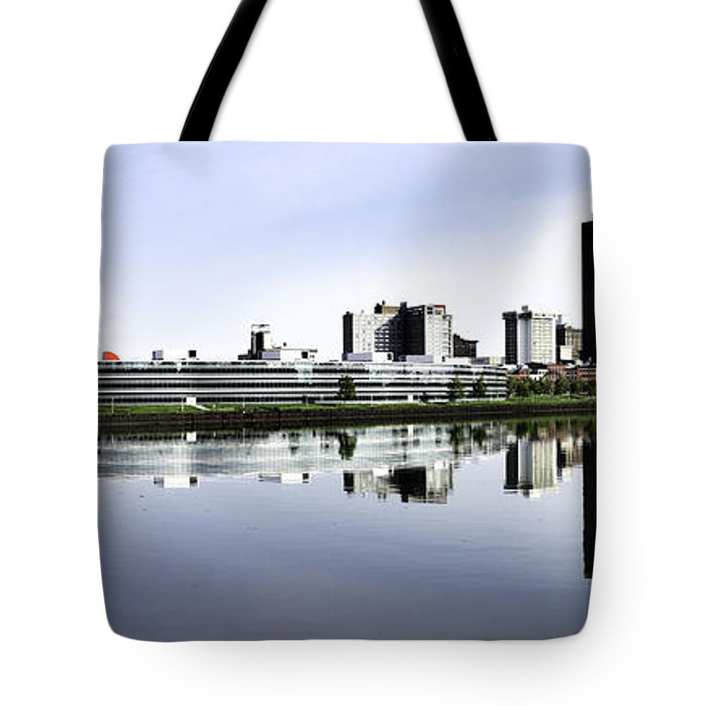 Toledo Tote Bag featuring the photograph Toledo Panoramic View by Thomas Staff