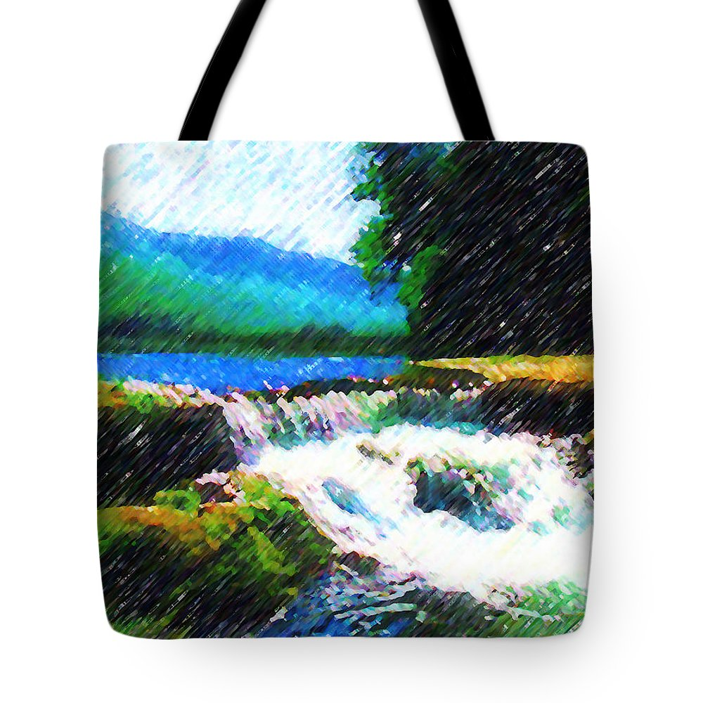 Landscape Tote Bag featuring the photograph Tolhuaca by Madalena Lobao-Tello