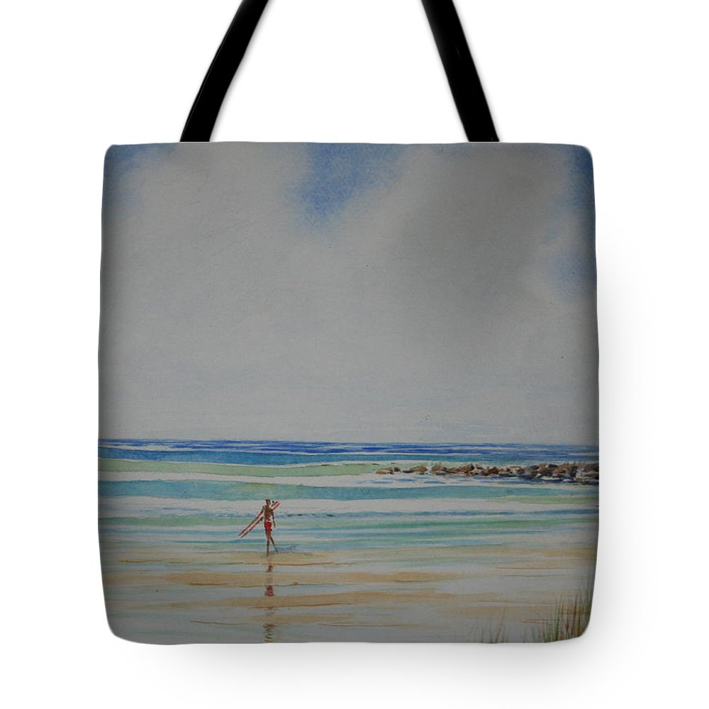 Beach Tote Bag featuring the painting Tom by Tom Harris