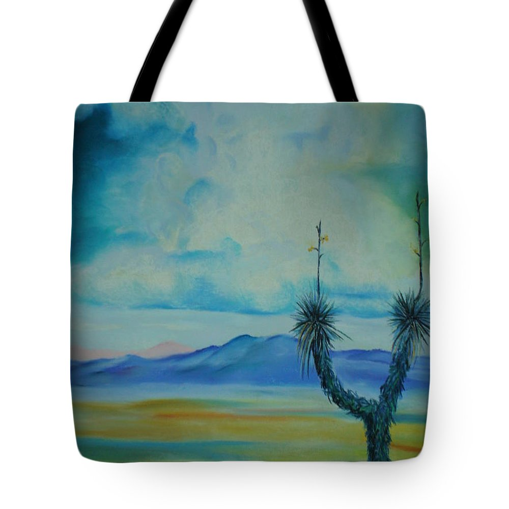 Arizona Tote Bag featuring the pastel Tombstone by Melinda Etzold