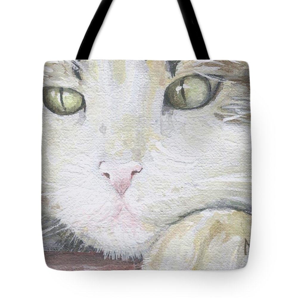 Charity Tote Bag featuring the painting Tommy by Mary-Lee Sanders