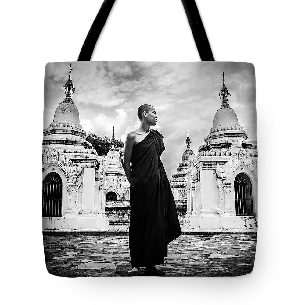 Monk Tote Bag featuring the photograph Tony by Daniela Ramos