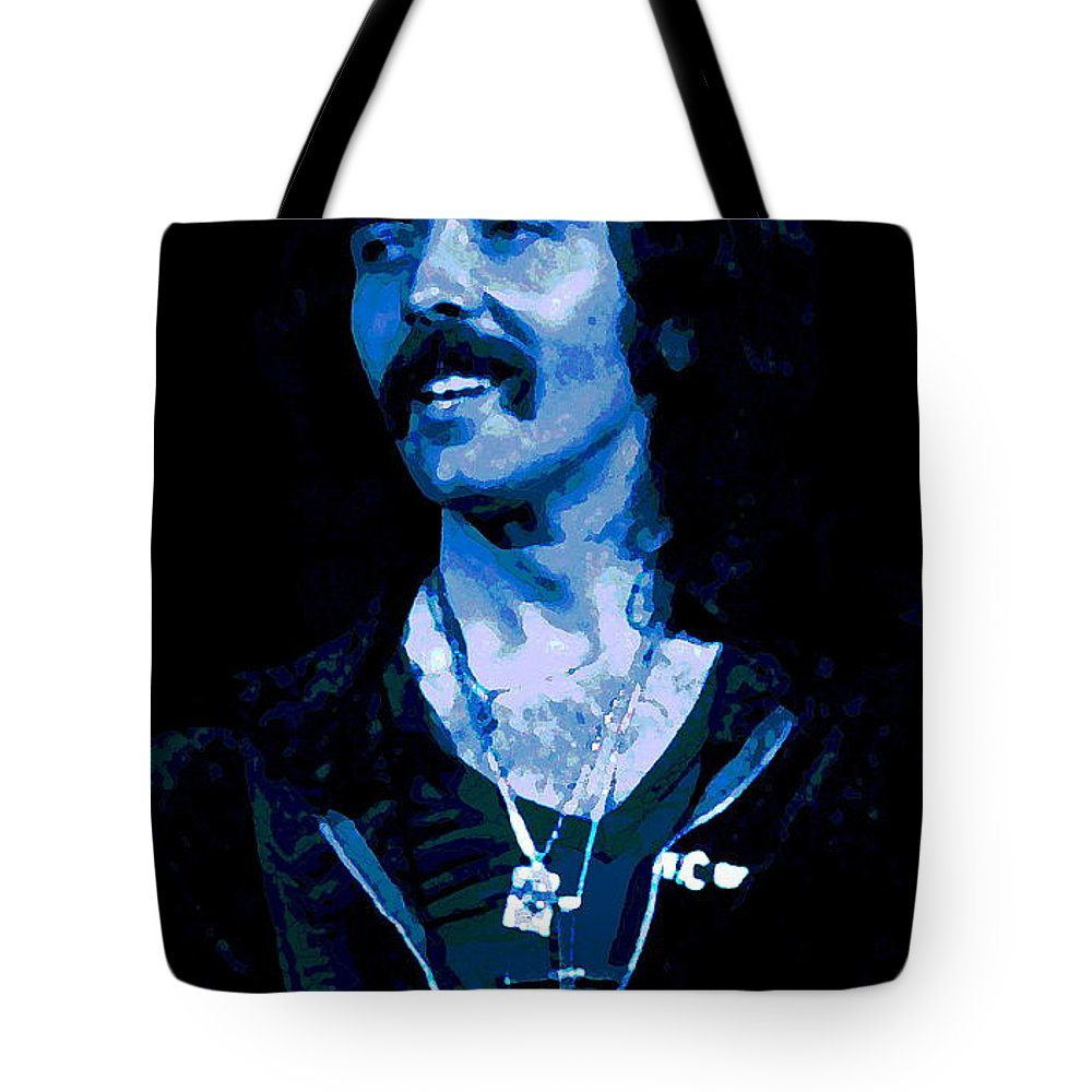 Black Sabbath Tote Bag featuring the photograph Cosmic Blue Fluff by Ben Upham