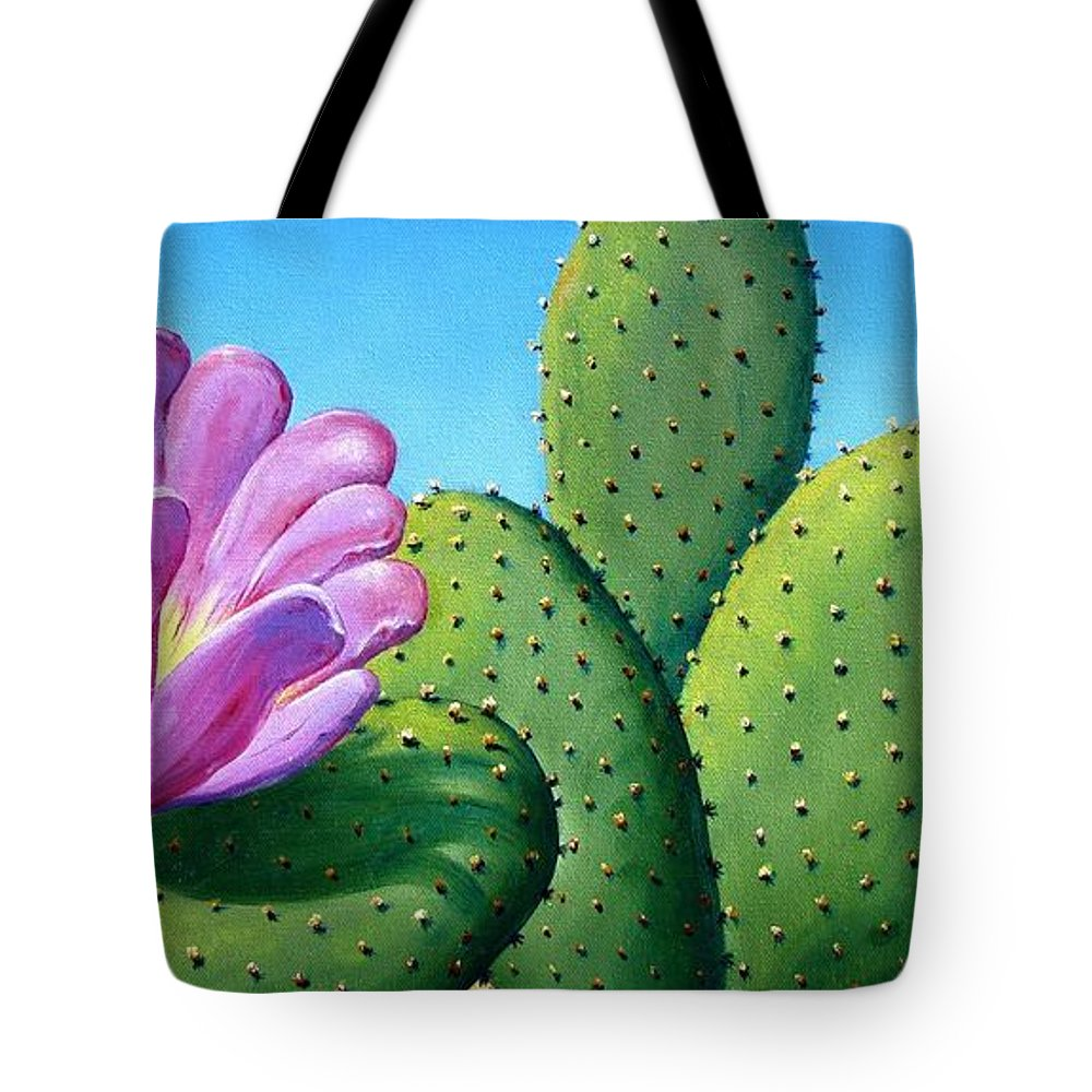 Landscape Tote Bag featuring the painting Too Close For Comfort by Tanja Ware