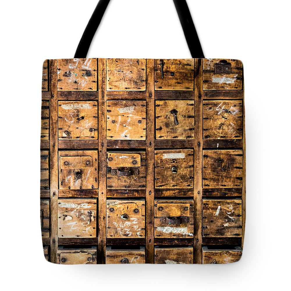 Tool Drawers Tote Bag featuring the photograph Drawers by M G Whittingham