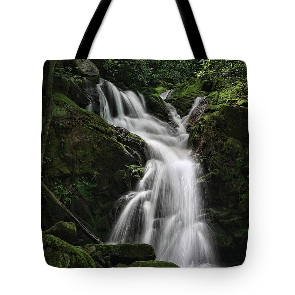 Waterfall Tote Bag featuring the photograph Top Of Mouse Creek Falls by Shari Jardina