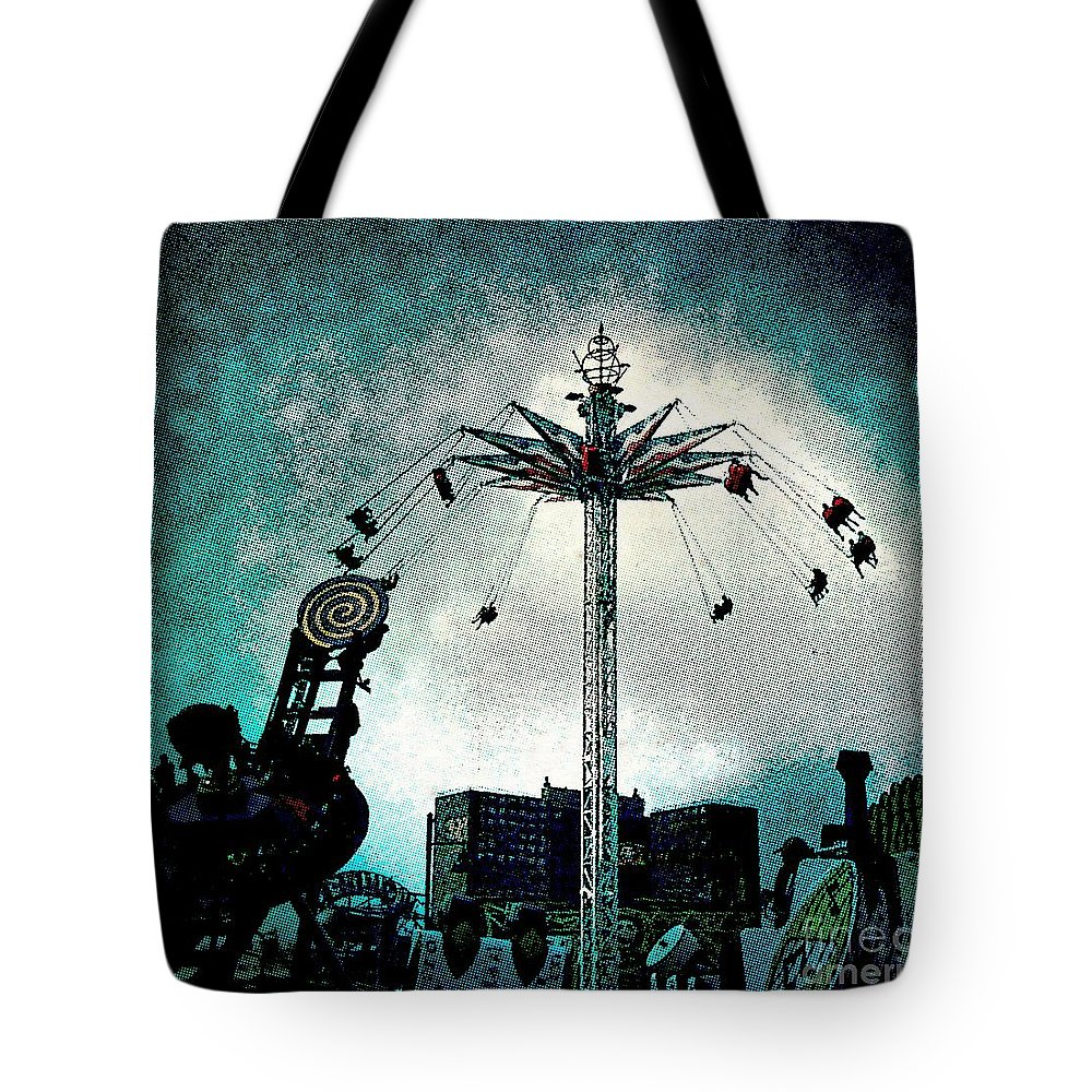 Coney Island Tote Bag featuring the photograph Top Of The World 2 by Onedayoneimage Photography