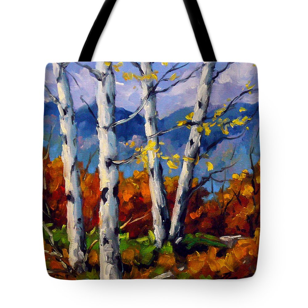 Peintre Tote Bag featuring the painting Top Sides Colors by Richard T Pranke