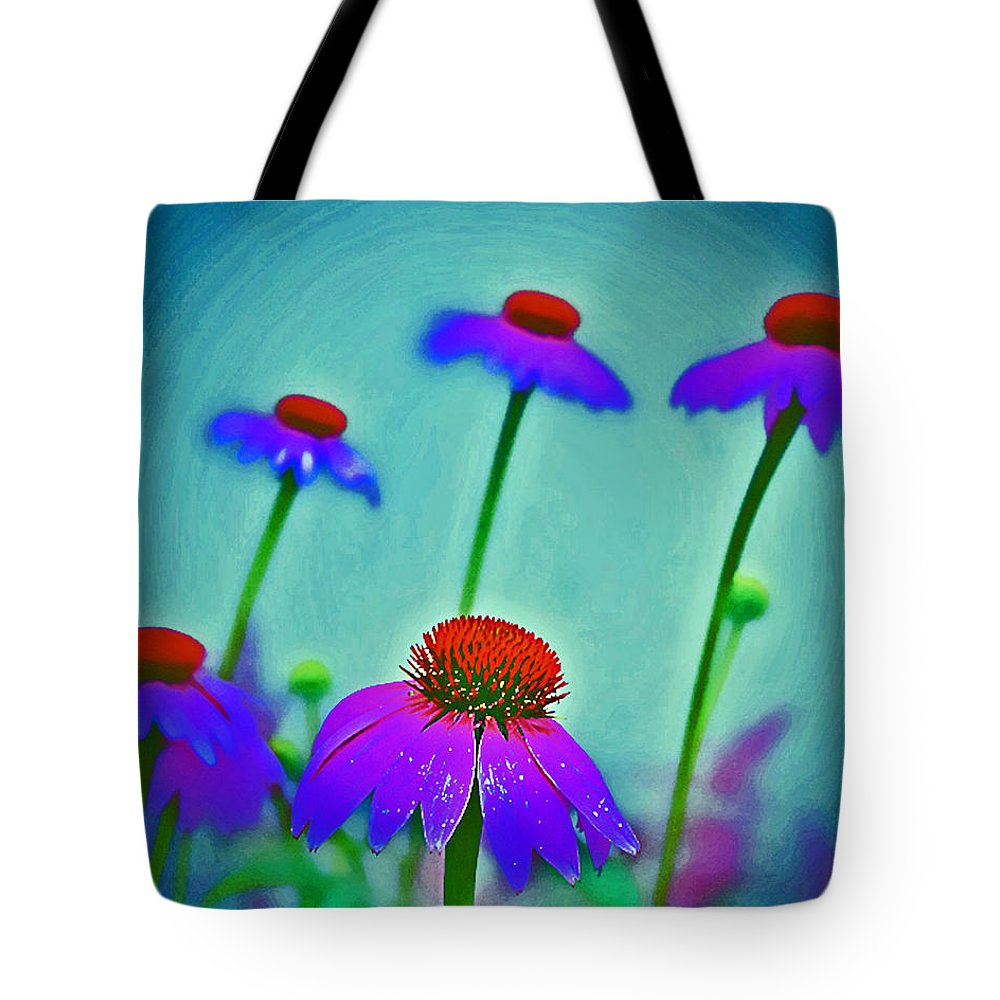Flowers Tote Bag featuring the photograph Toppers by Marvin Seiger