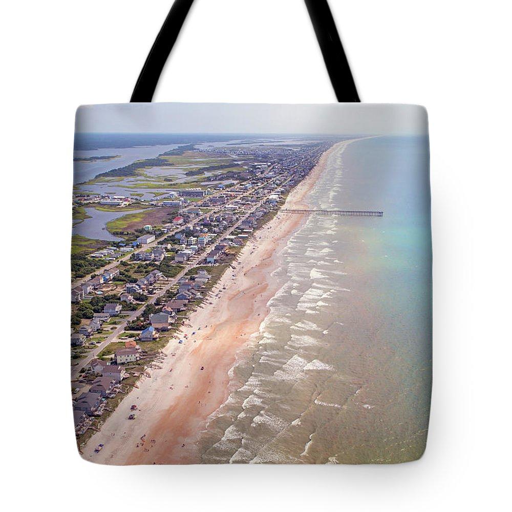 Topsail Tote Bag featuring the photograph Topsail Buzz Surf City by Betsy Knapp