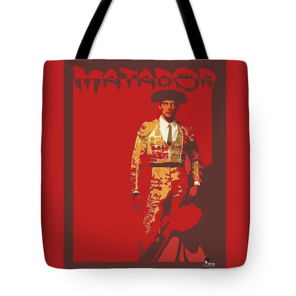 Torero Tote Bag featuring the digital art Torero by Joaquin Abella