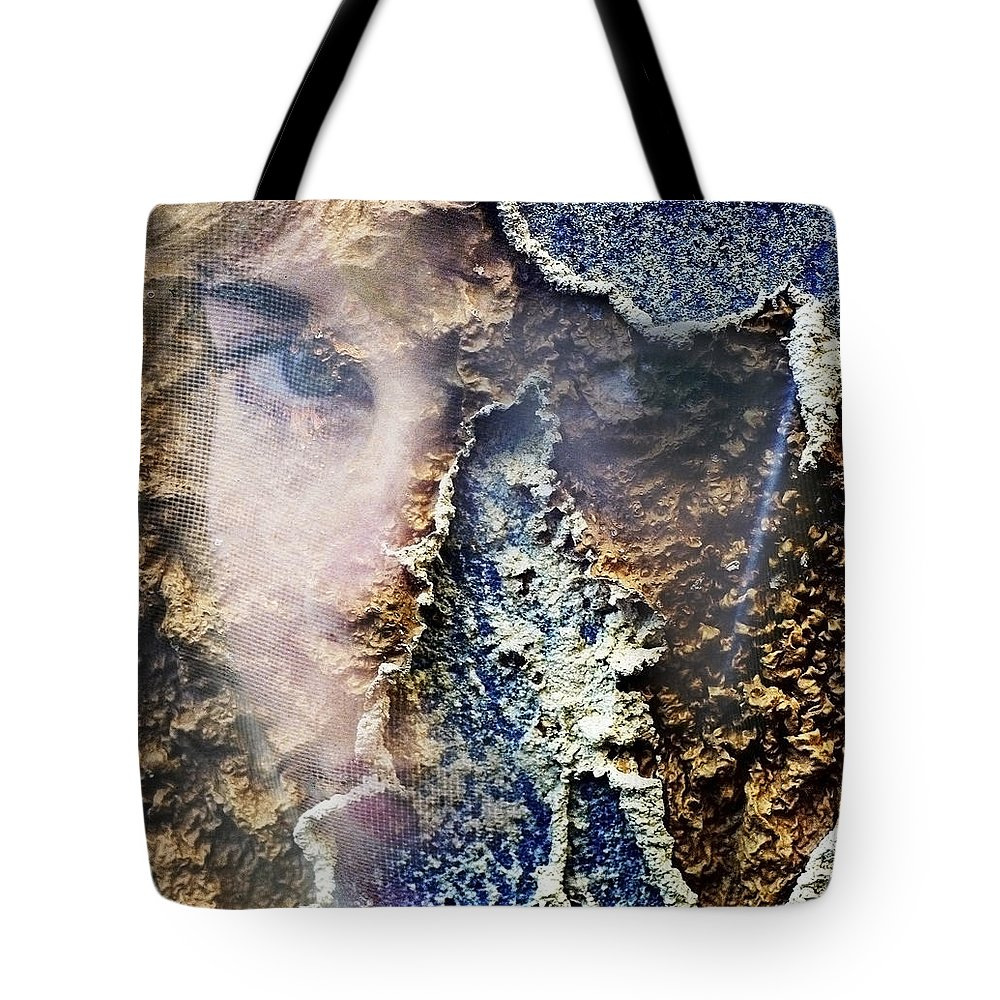 Female Tote Bag featuring the photograph Torn by Skip Hunt