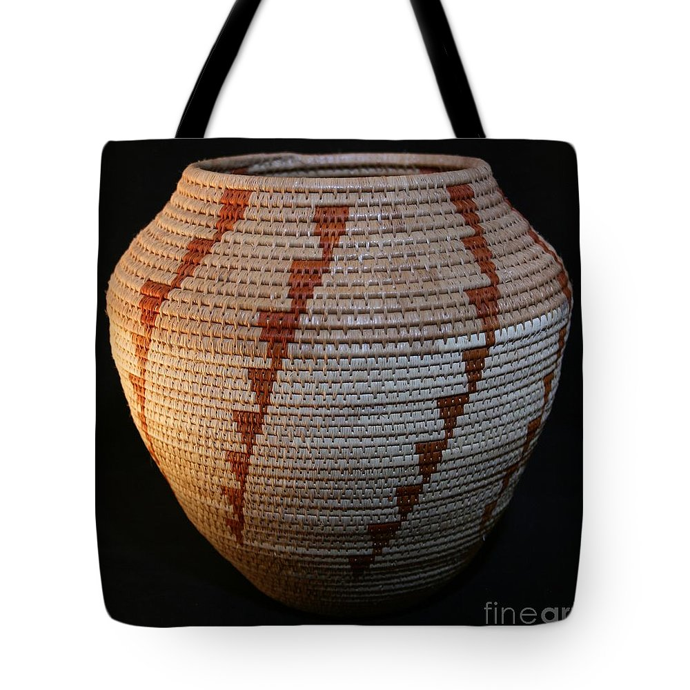 Basket Tote Bag featuring the mixed media Tornado Bowl by Darlene Ryer