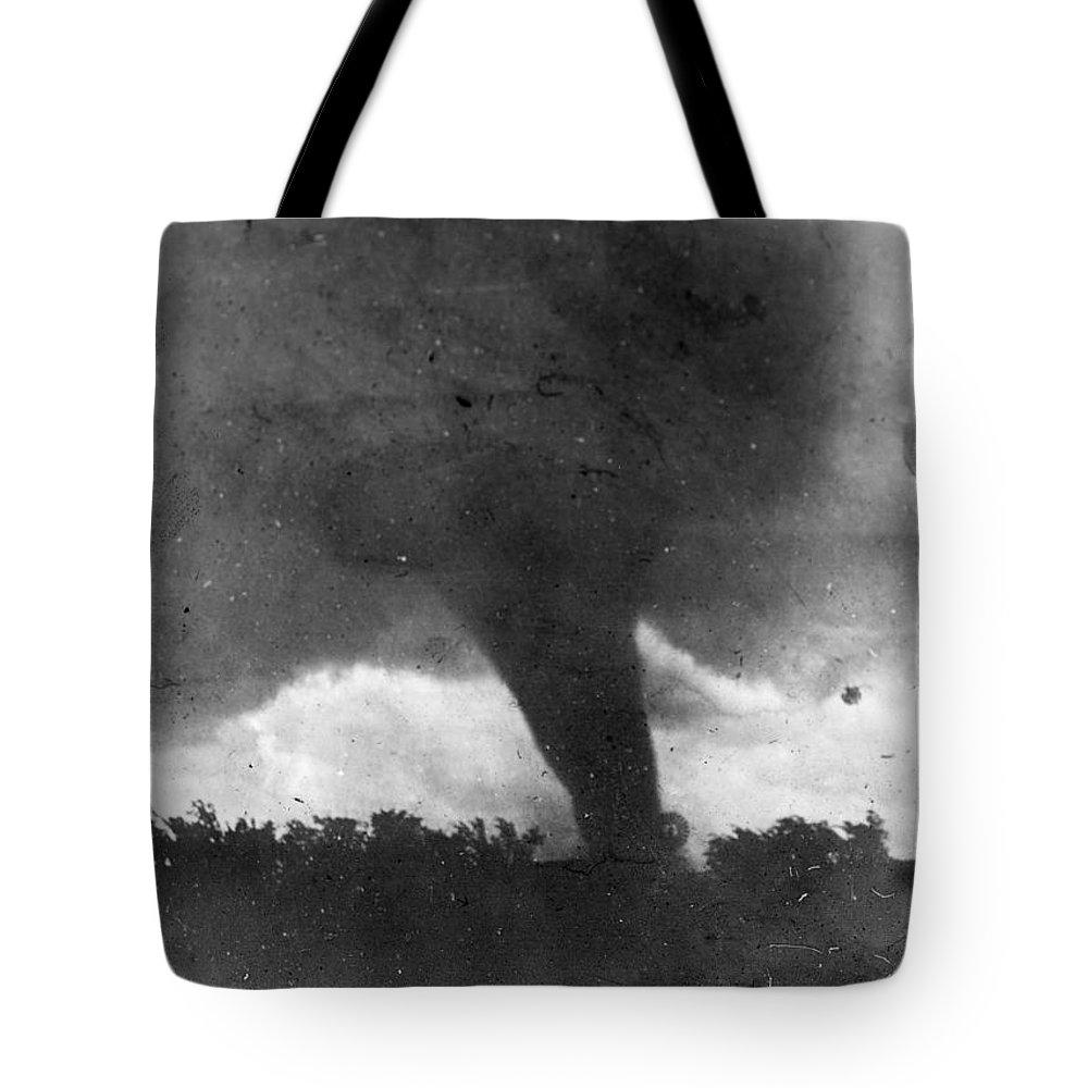 1913 Tote Bag featuring the photograph Tornado, C1913-1917 by Granger