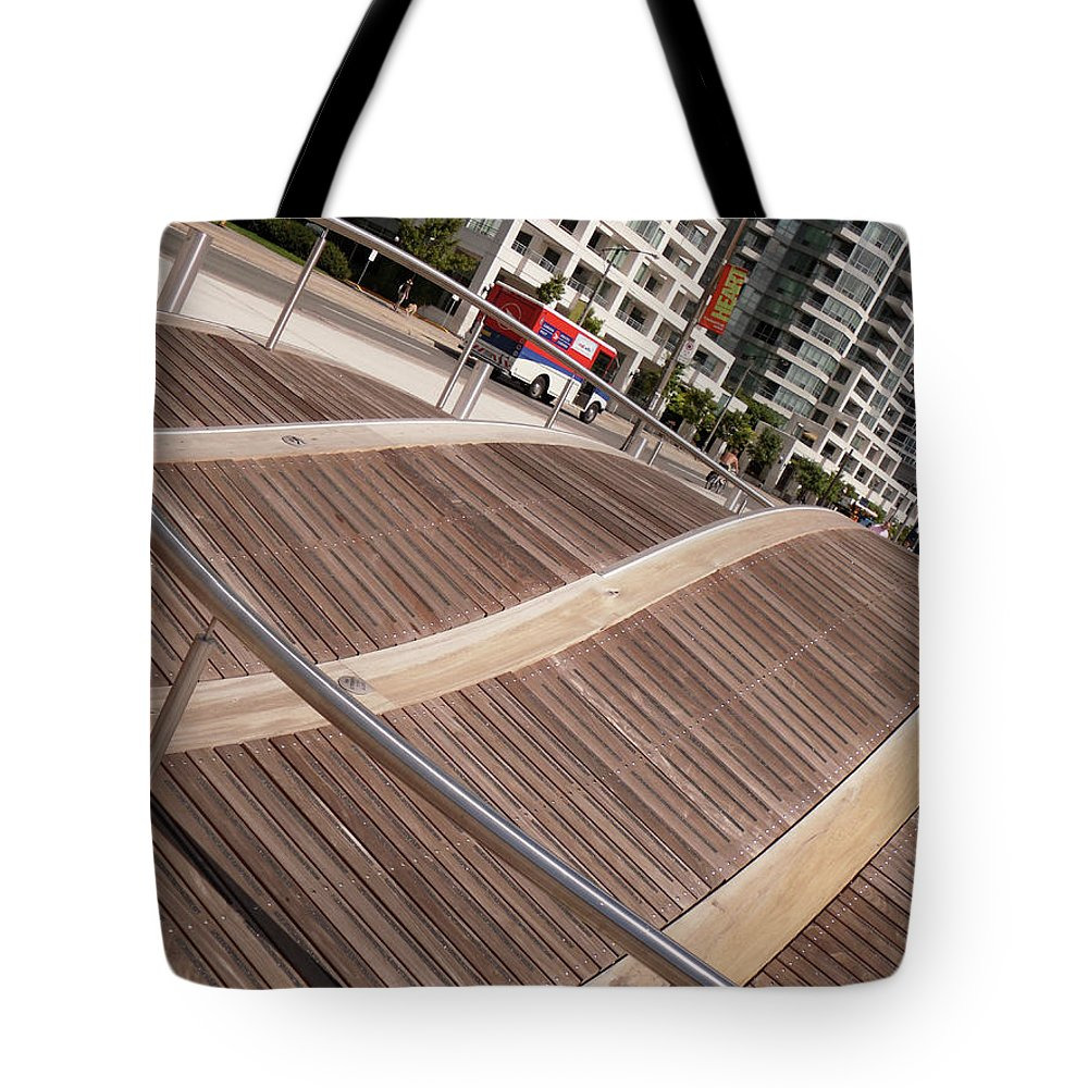 Marwan George Khoury Tote Bag featuring the photograph Toronto's Harbourfront by Marwan George Khoury