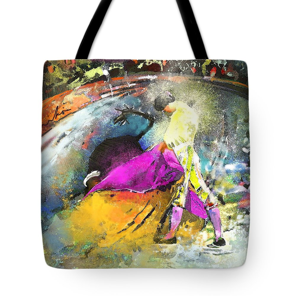 Animals Tote Bag featuring the painting Toroscape 28 by Miki De Goodaboom