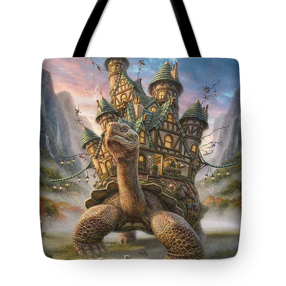 Mountain Mixed Media Tote Bags
