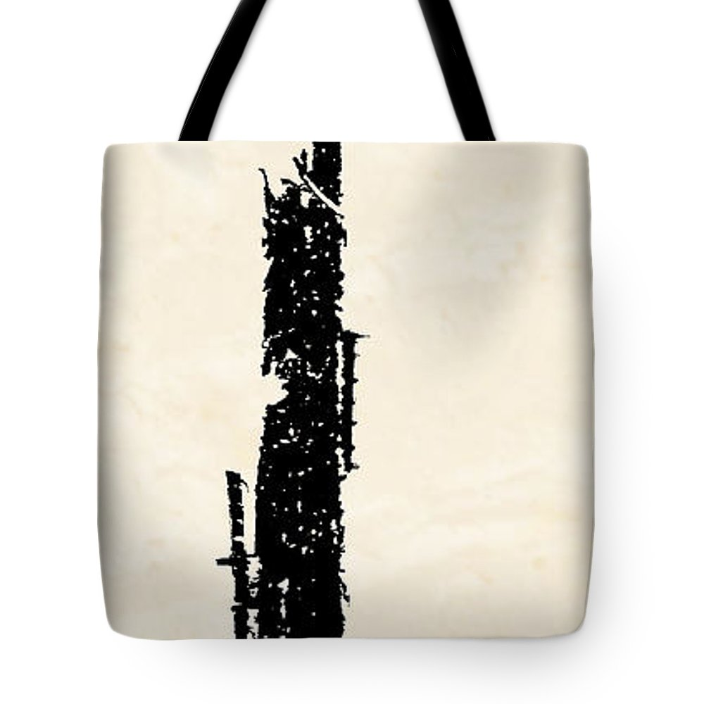 Totem Tote Bag featuring the digital art Totem by Ken Walker