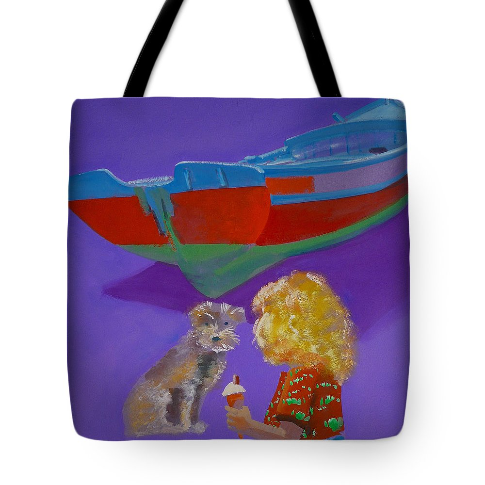 Blonde Tote Bag featuring the painting Toto by Charles Stuart