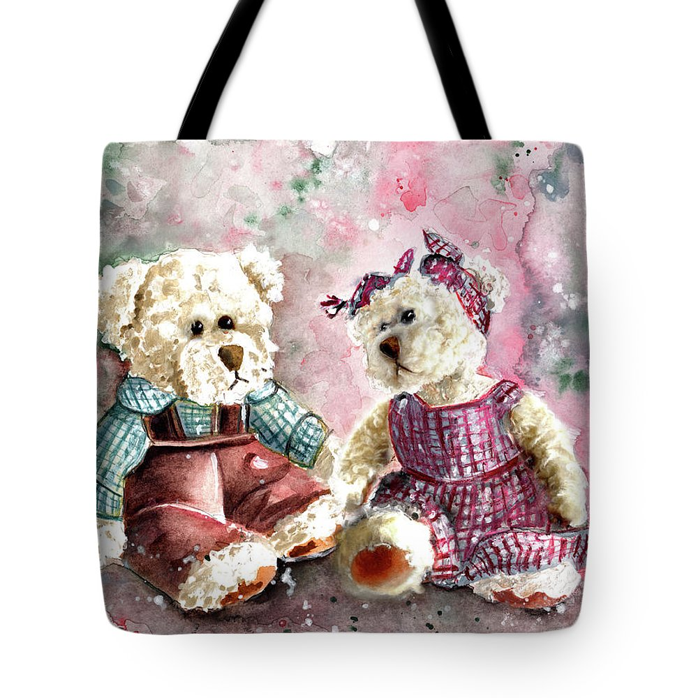 Truffle Mcfurry Tote Bag featuring the painting Toto Et Lolo by Miki De Goodaboom