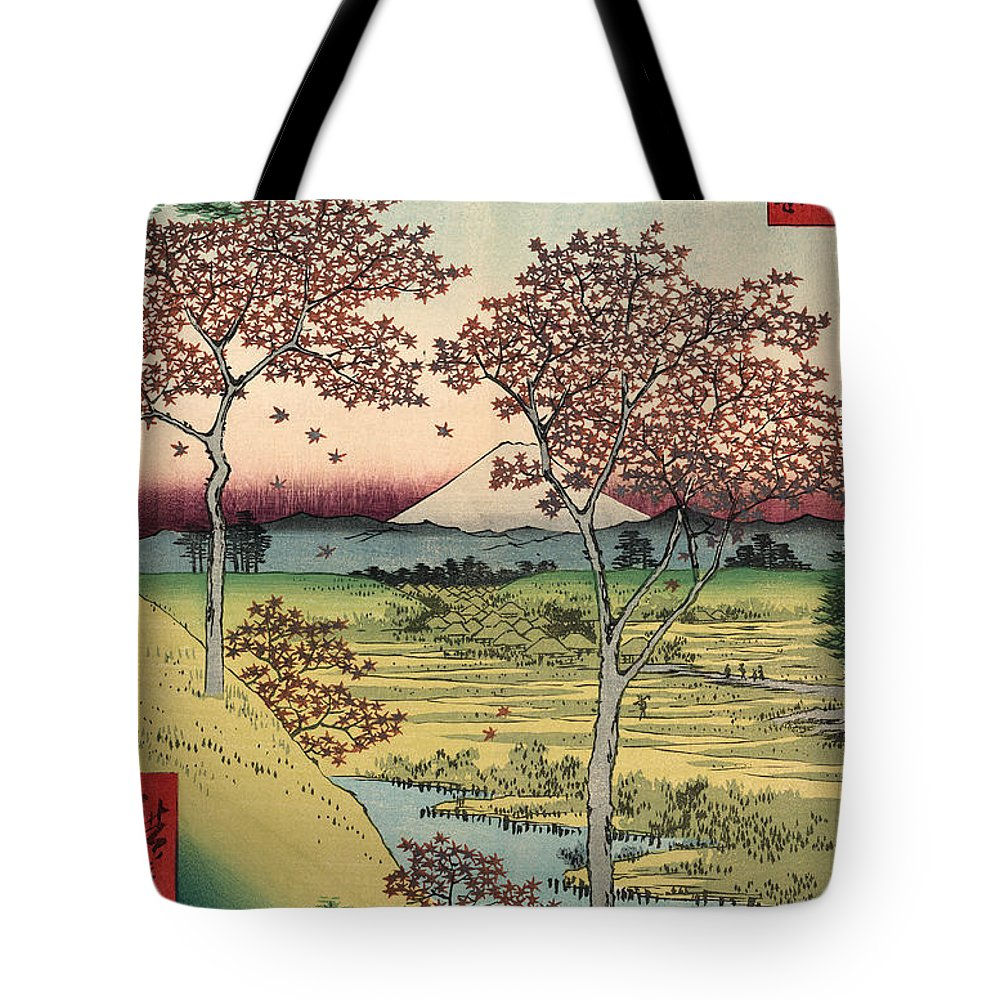 Tōto Tote Bag featuring the painting Toto Meguro Yuhhigaoka - Sunset Hill Meguro In The Eastern Capitol by Utagawa Hiroshige