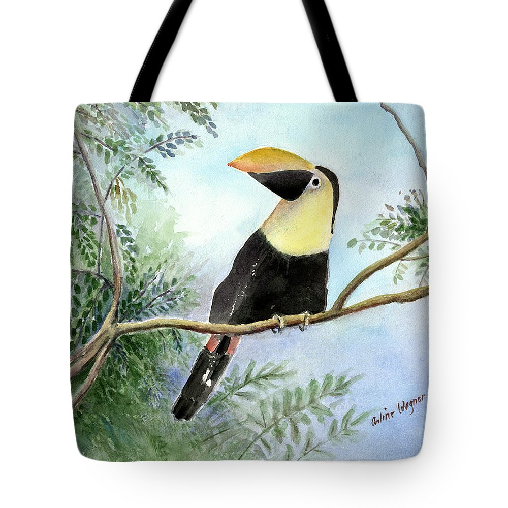 Toucan Tote Bag featuring the painting Toucan by Arline Wagner