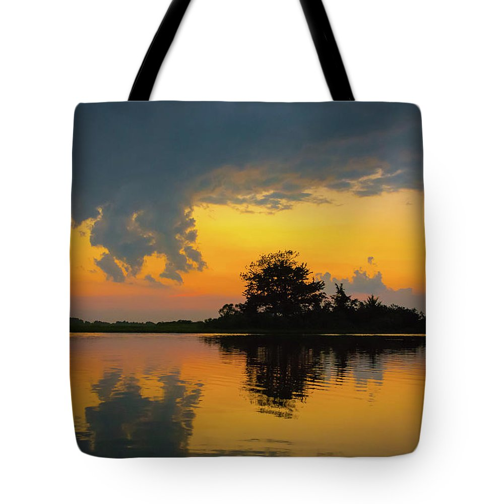 Sunset Tote Bag featuring the photograph Touch The Sky by Jodi Lyn Jones
