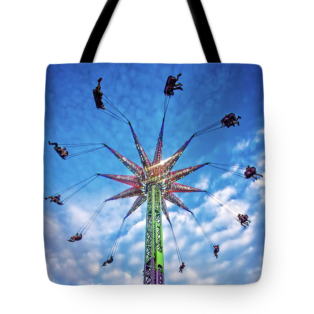 Carnival Tote Bag featuring the photograph Touch The Sky by Mark Andrew Thomas