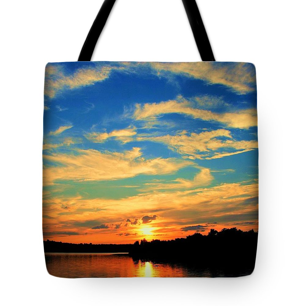Sunset Tote Bag featuring the photograph Touch The Wind by Mitch Cat