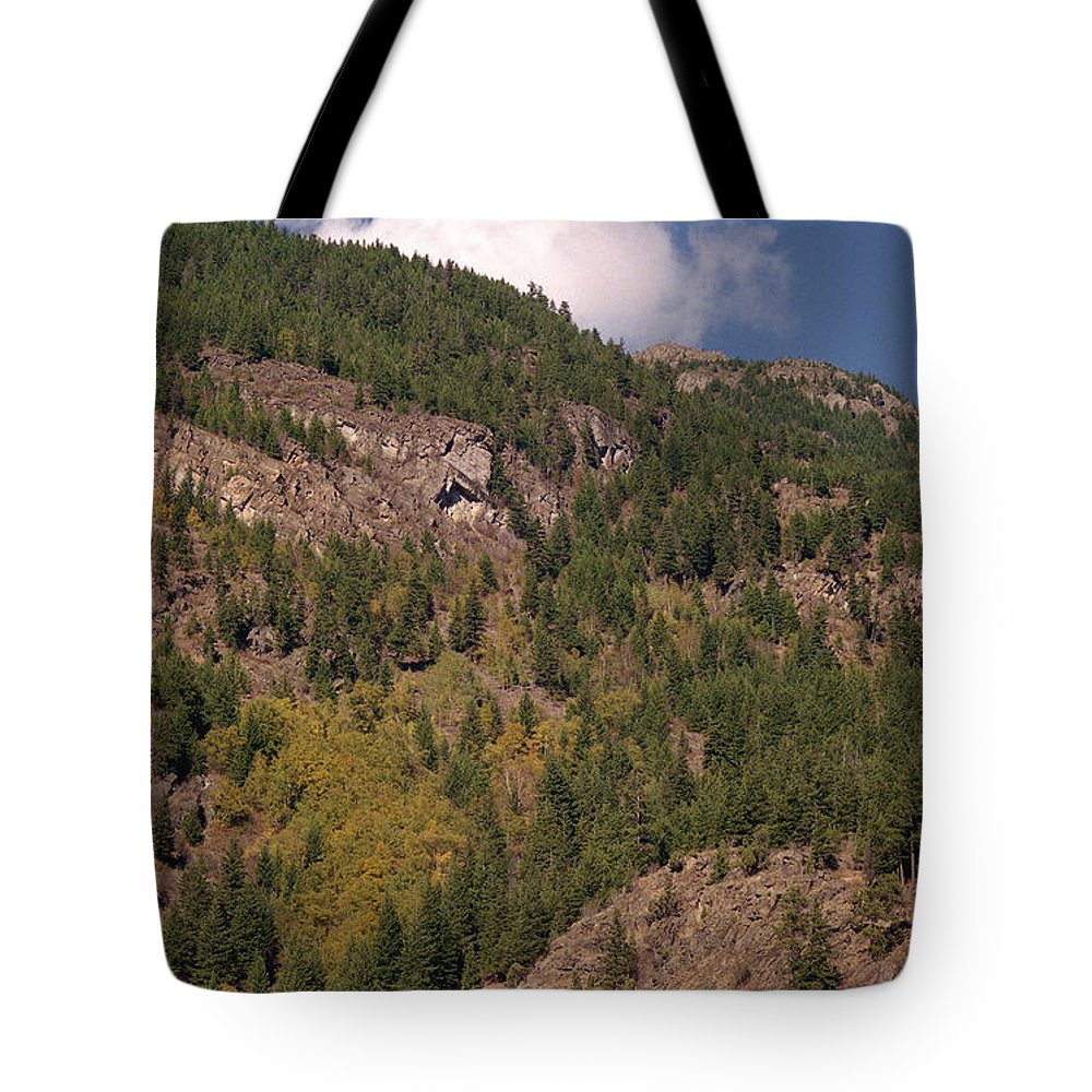 Mountains Tote Bag featuring the photograph Touching The Clouds by Richard Rizzo
