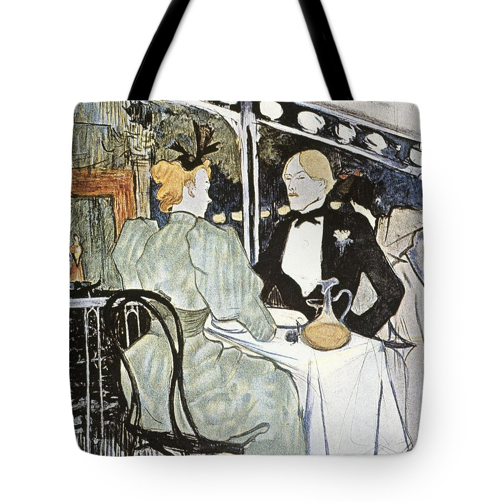 19th Century Tote Bag featuring the photograph Toulouse-lautrec: Menu by Granger