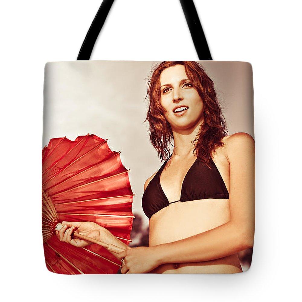 Adventuresome Tote Bag featuring the photograph Tourist On Asian Vacation by Jorgo Photography - Wall Art Gallery