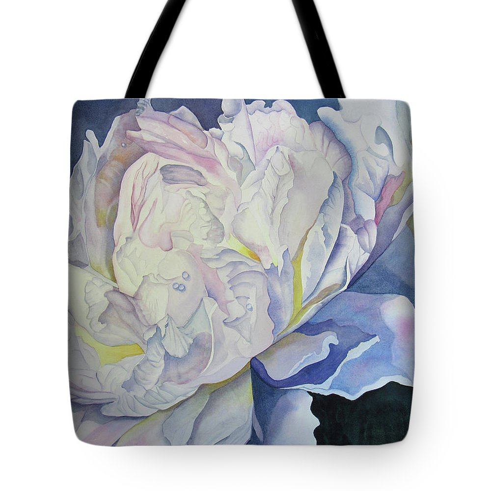 Floral Tote Bag featuring the painting Toward The Light by Teresa Beyer
