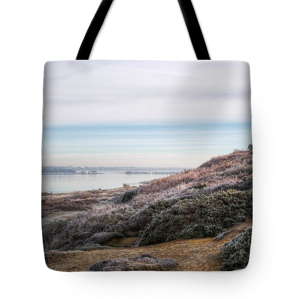 Mudeford Tote Bag featuring the photograph Towards Mudeford by Chris Day