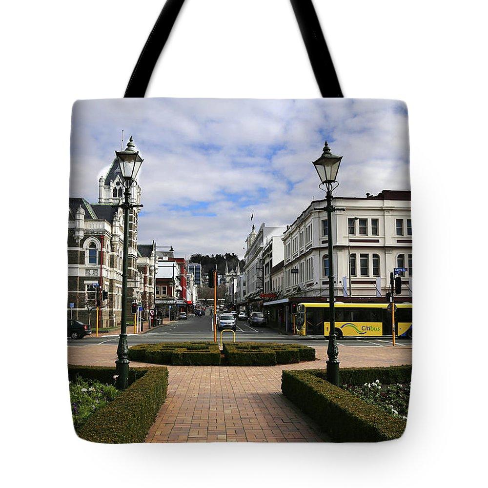 Octagon Tote Bag featuring the photograph Towards The Octagon Dunedin by Nareeta Martin