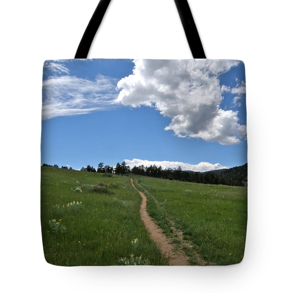 Walk Tote Bag featuring the photograph Towards The Sky by George Tuffy