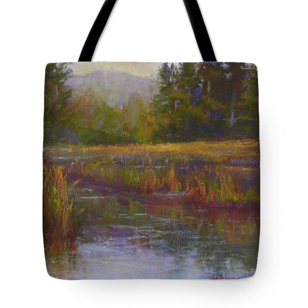 Landscapes Tote Bag featuring the painting Towards Ticonderoga by Susan Williamson