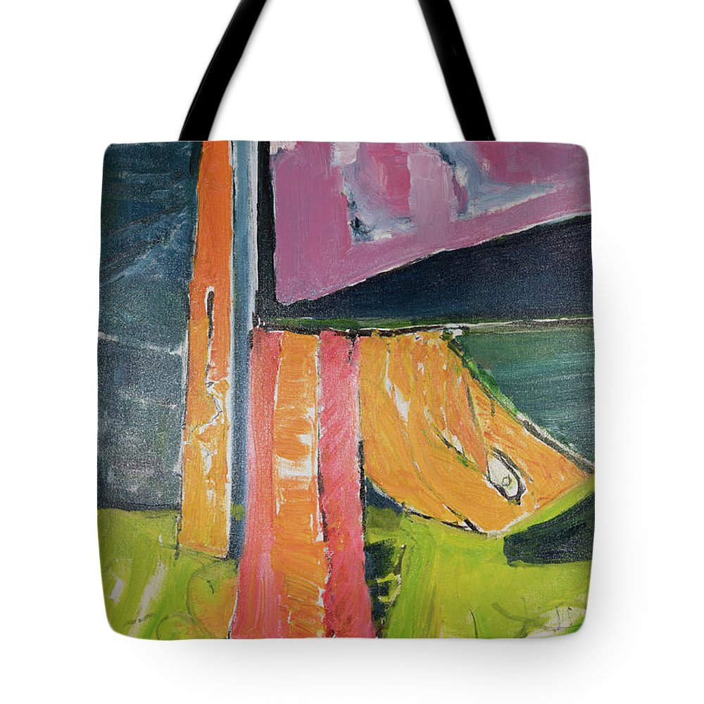 Towels Tote Bag featuring the painting Towels As Flags by Craig Newland