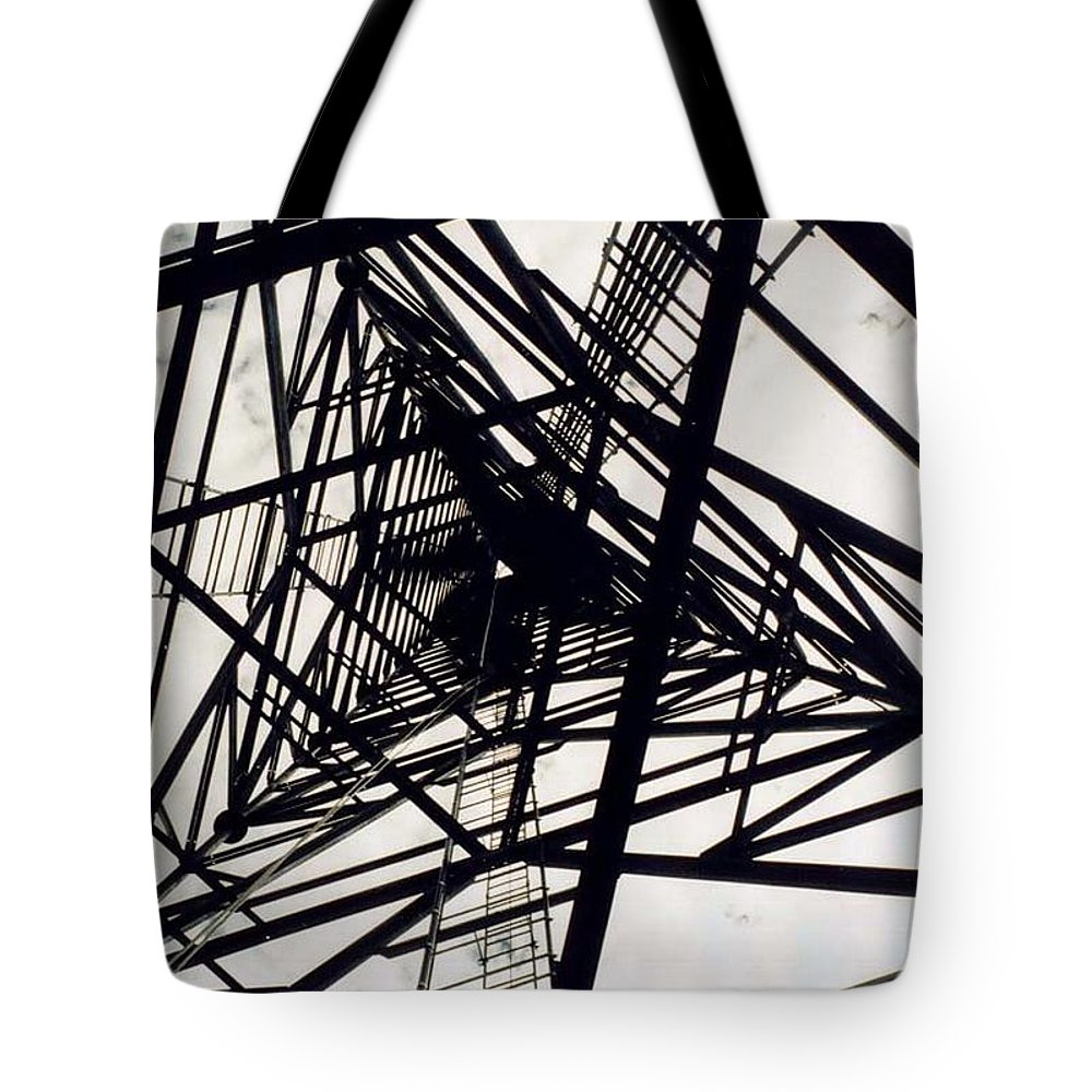 Rust Tote Bag featuring the photograph Tower Grid by Margaret Fortunato