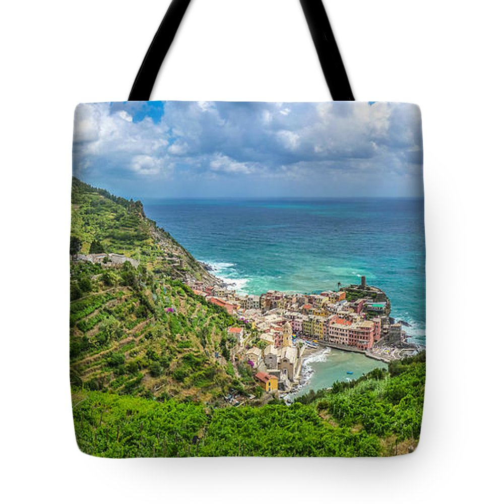 Beach Tote Bag featuring the photograph Town Of Vernazza, Cinque Terre, Italy by JR Photography
