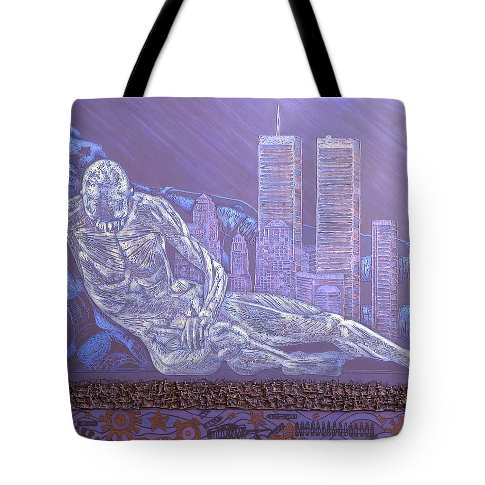 War Tote Bag featuring the painting Toy Soldiers by Judy Henninger
