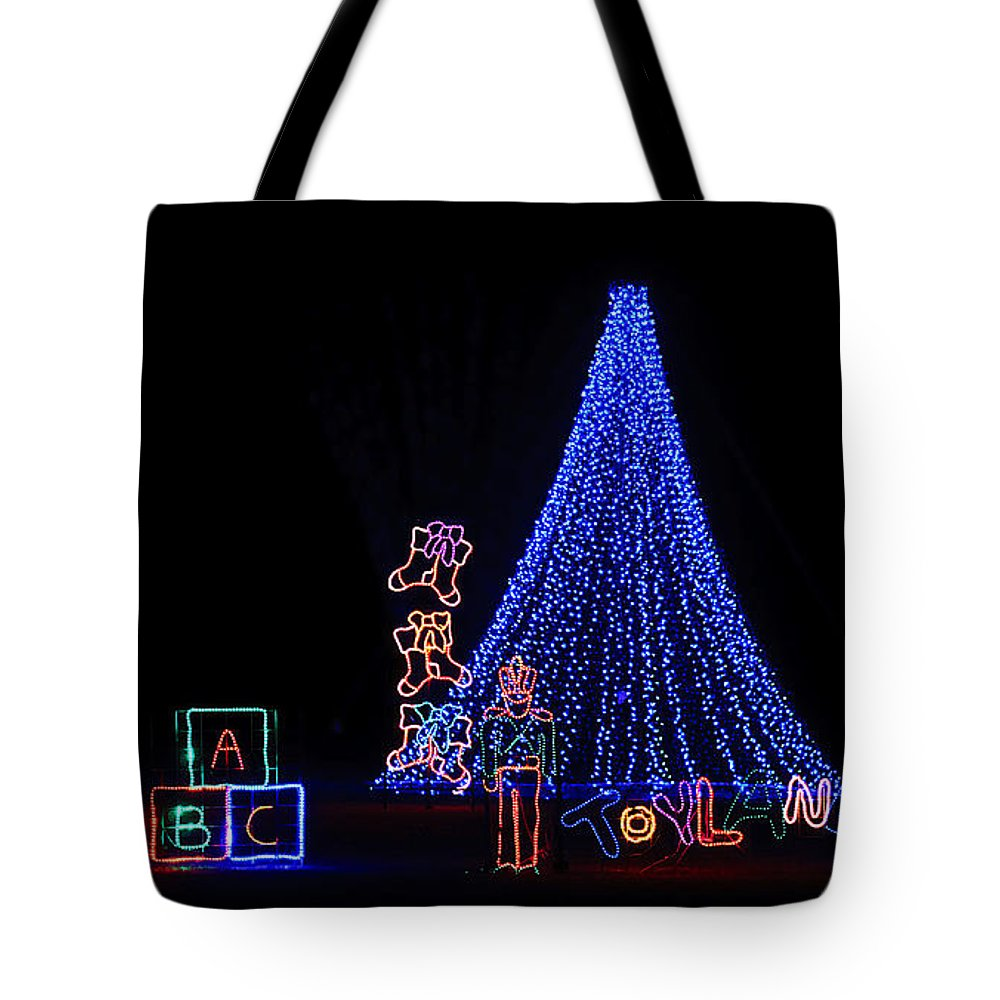 Lights Tote Bag featuring the photograph Toy Wonderland by Kenneth Albin