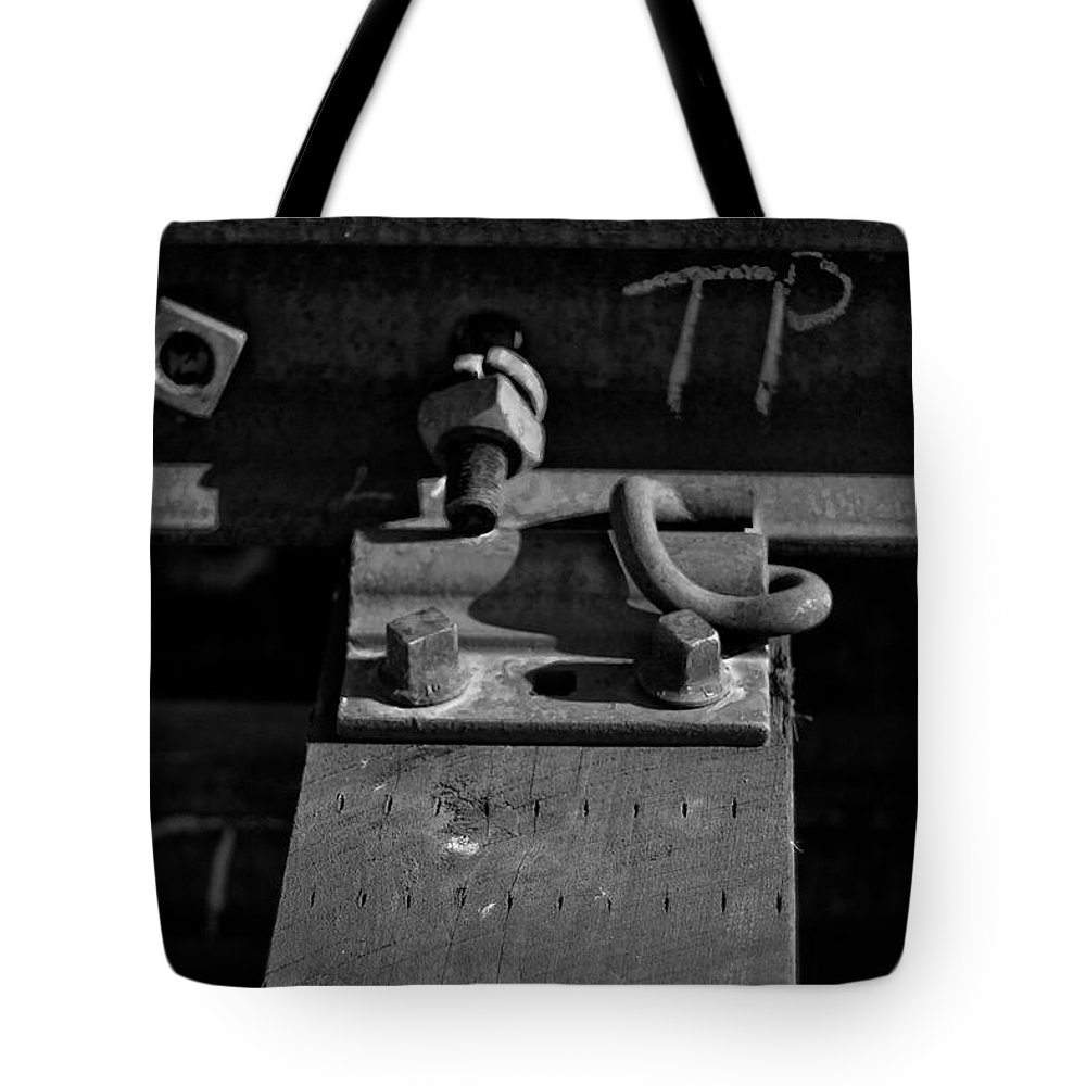 Black And White Photograph Tote Bag featuring the photograph tp II by Mike Oistad