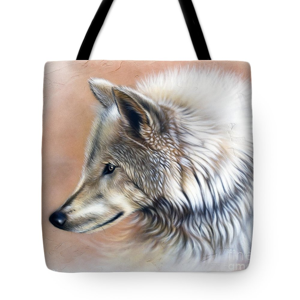 Wolves Tote Bag featuring the painting Trace IIi by Sandi Baker