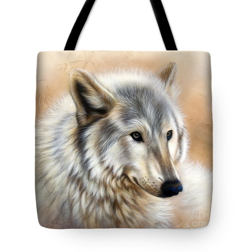 Acrylic Tote Bag featuring the painting Trace by Sandi Baker
