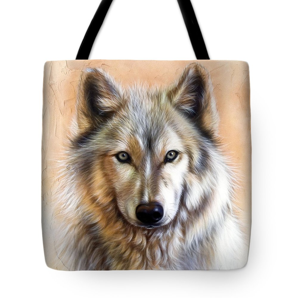 Wolves Tote Bag featuring the painting Trace Two by Sandi Baker