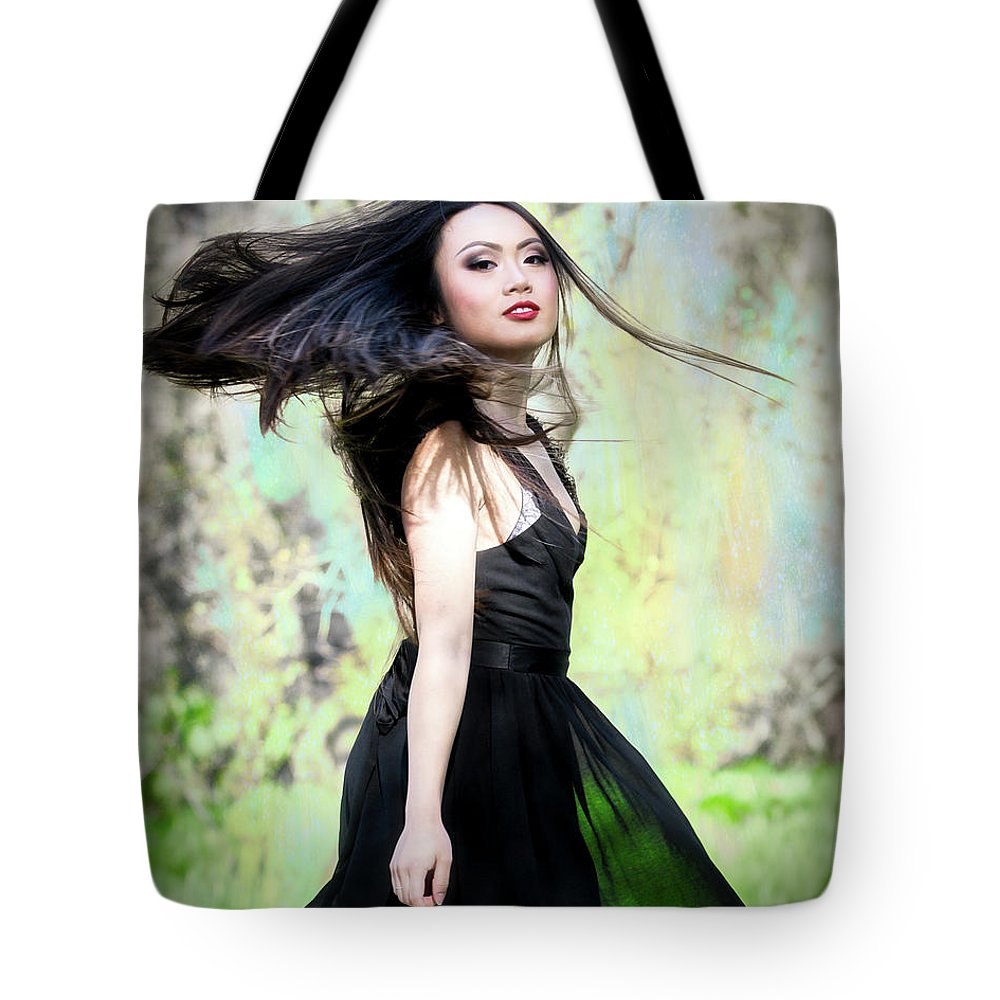 Miss Vietnam Sacramento Tote Bag featuring the photograph Tracie Dang 1 by Jim Thompson