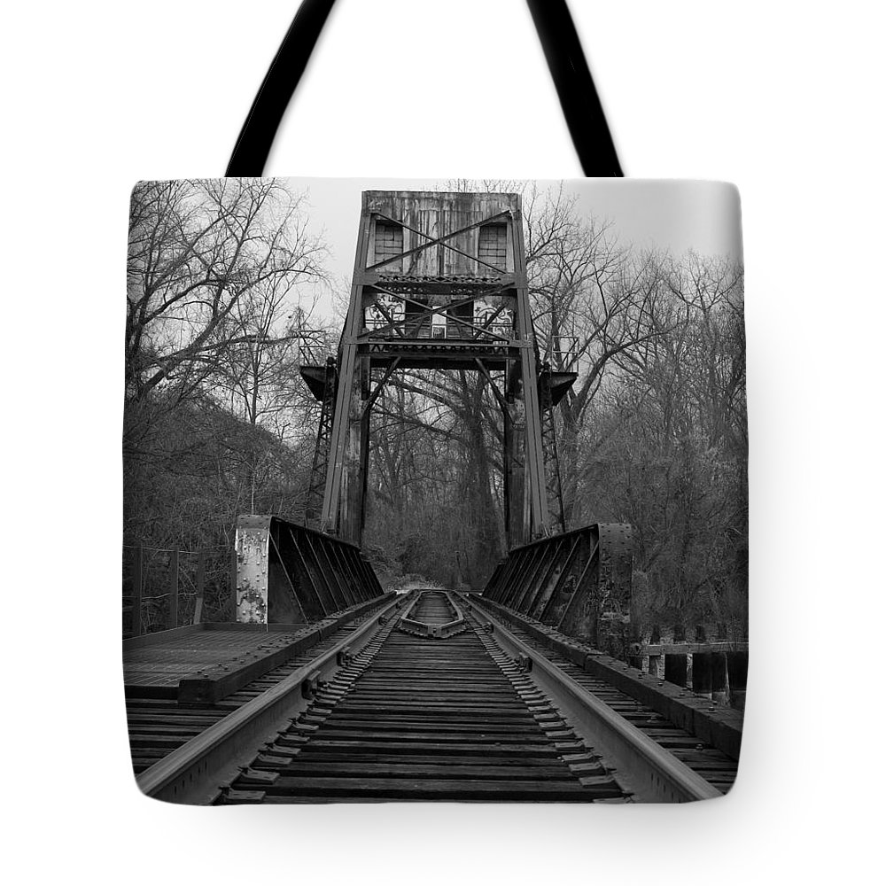 Tracks Tote Bag featuring the photograph Tracking The Past by Kelvin Booker